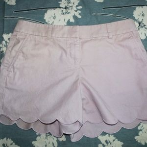 Pale Pink LOFT Scalloped Shorts
